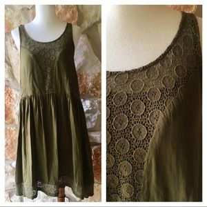 Anthropologie Dresses - Anthropologie Lilka Matepe Lace Dress in moss